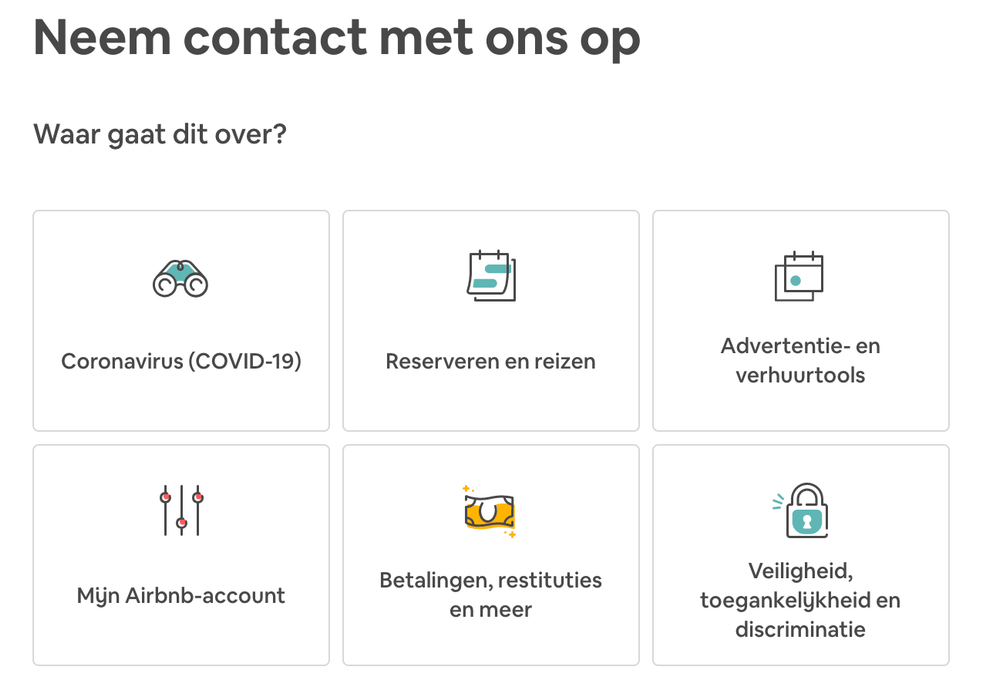 [Handleiding] Contact opnemen met Airbnb
