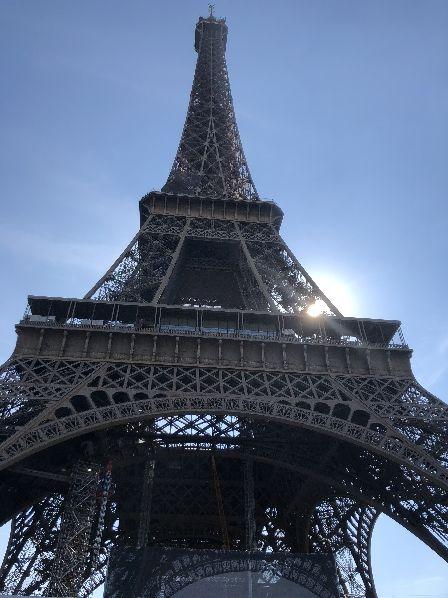 Und natuerlich der Eiffelturm bei schoenstem Wetter
