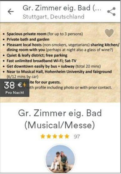 Für Gäste, welche die Beschreibung nicht lesen ...