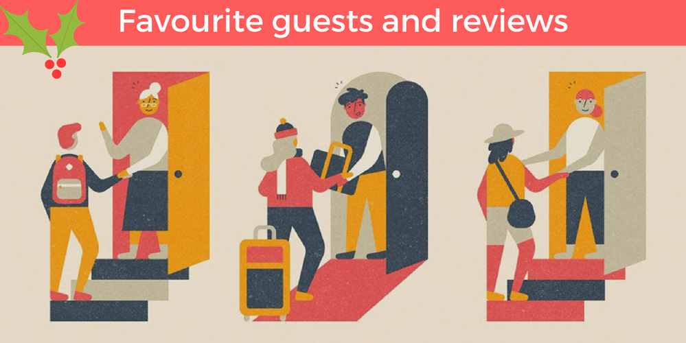 Share your favourite guests and reviews!