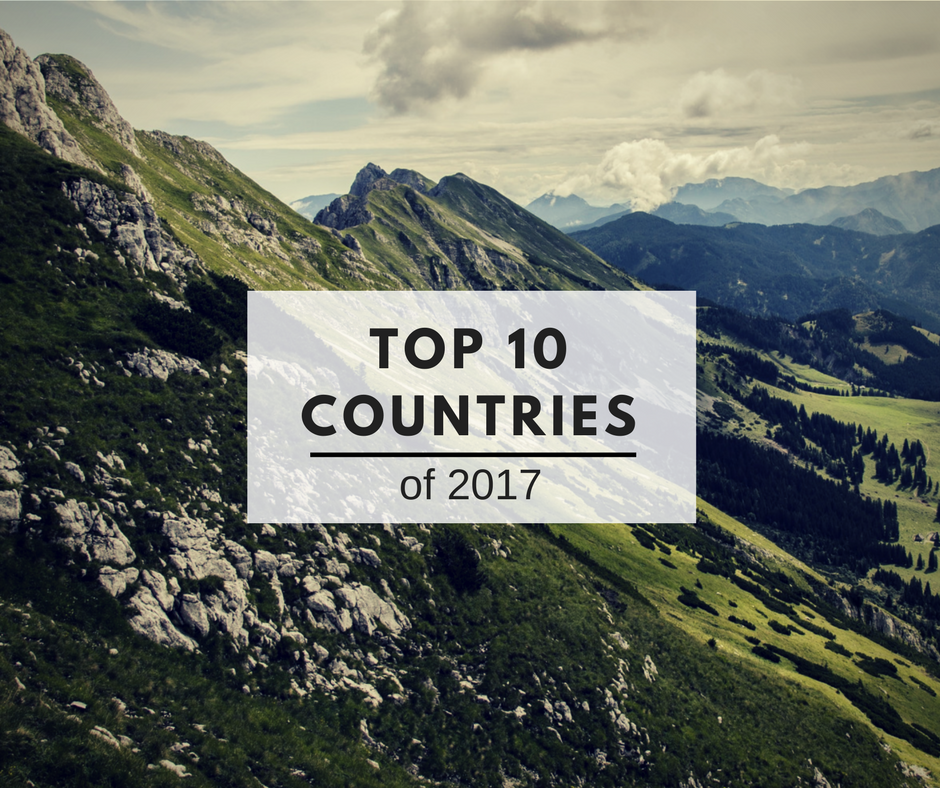 What are your top 10 countries of 2017?