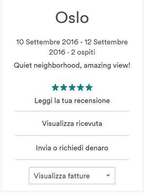 ricevute airbnb