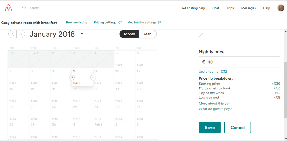 What is yellow pricing in my calendar? - Airbnb Community