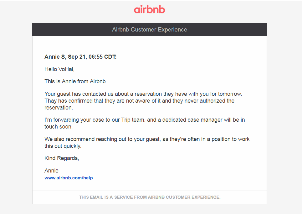 how to change airbnb reservation request