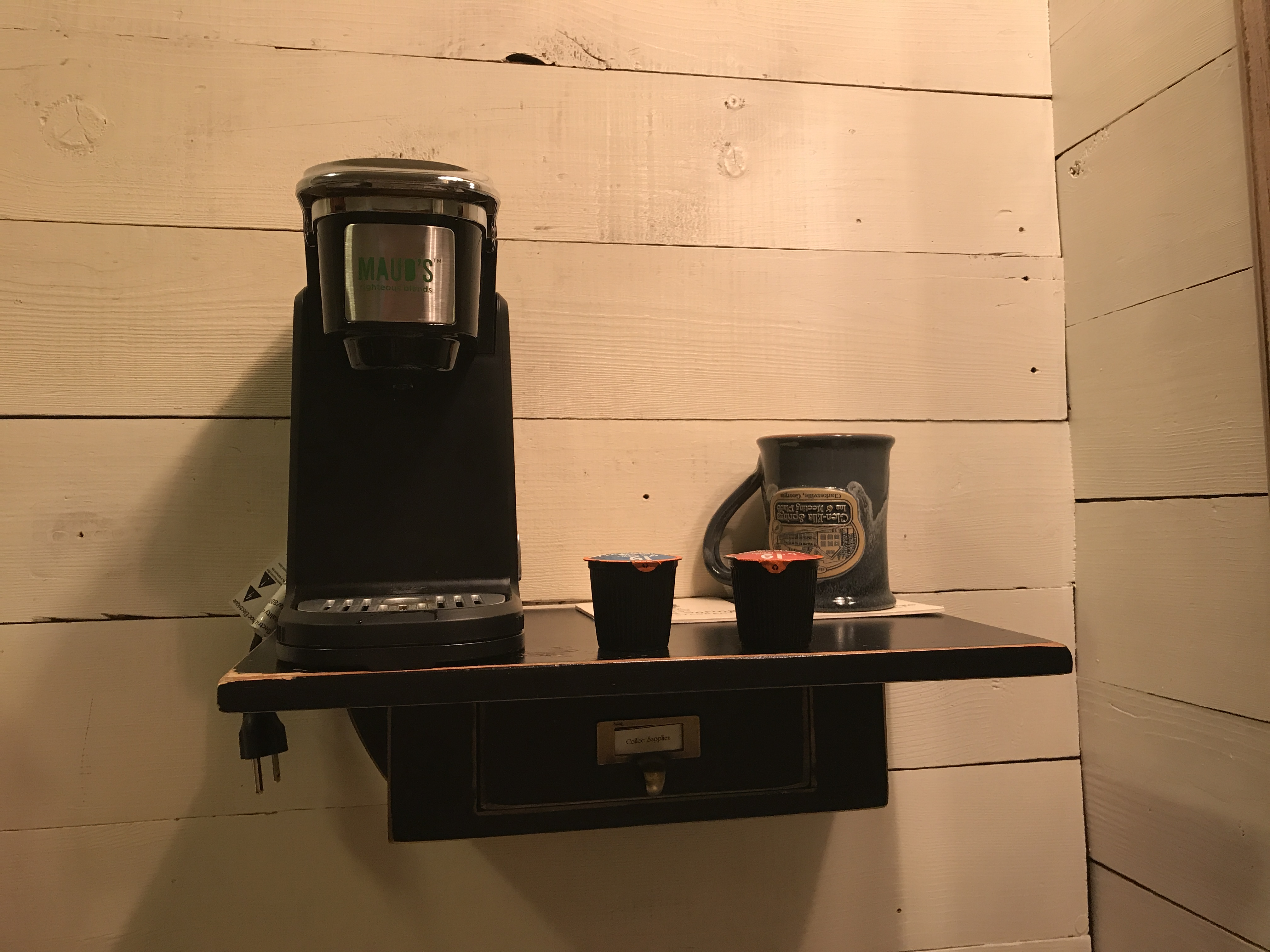 Tiny Craftsman Comes With Espresso Station: Great Small Space Coffee Station Option!