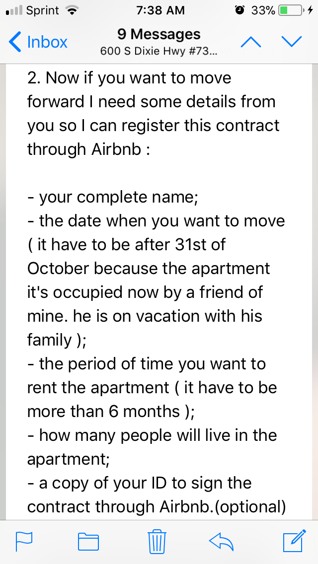Rental scam using Airbnb? How should I go forward