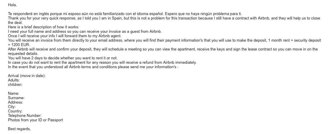 Rental scam using Airbnb? How should I go forward,... - Page 19 ...