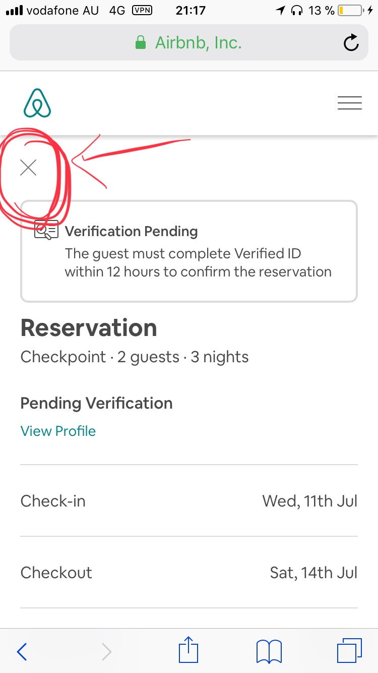 Pending Verification