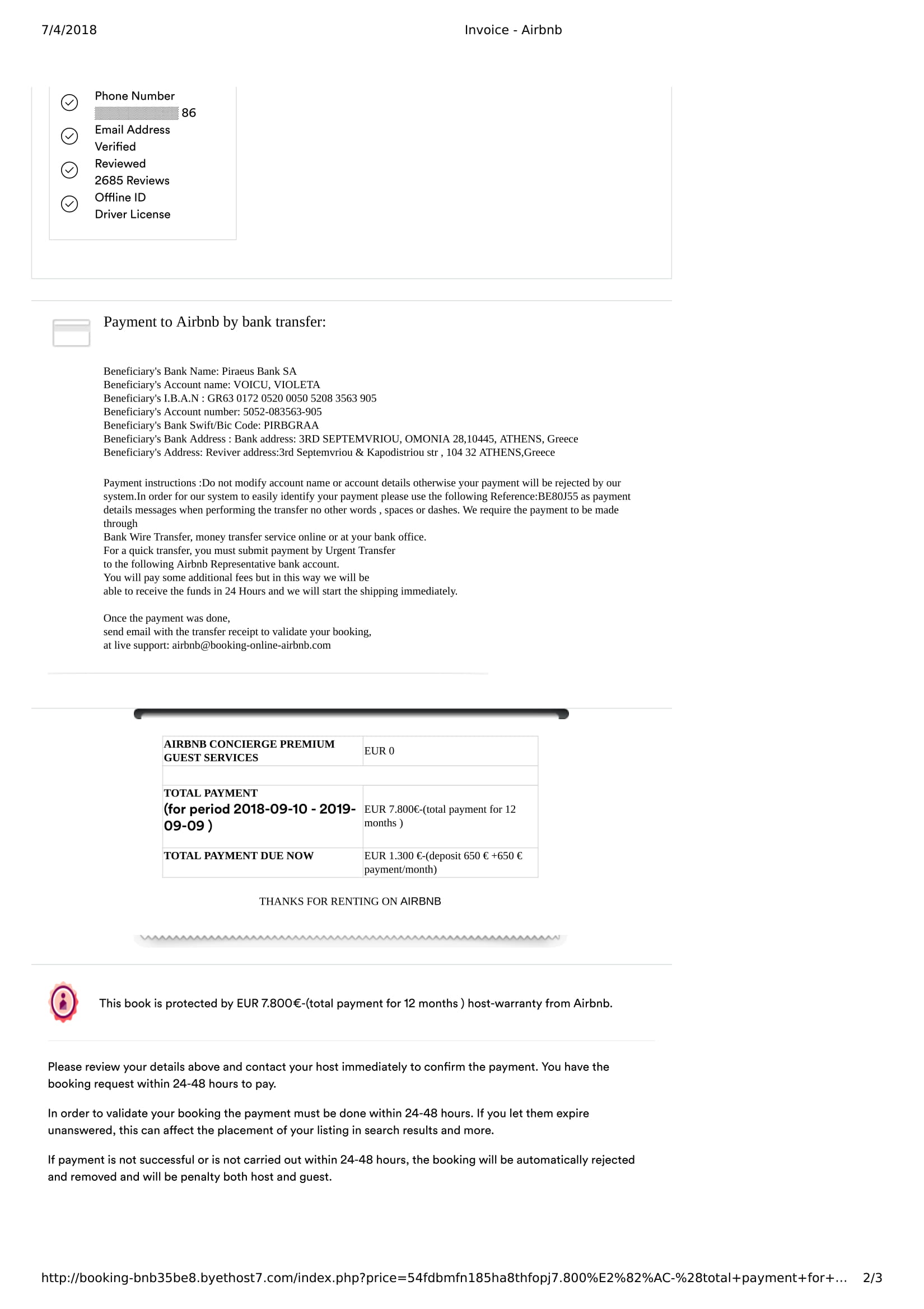 Rental Scam Using Airbnb How Should I Go Forward Page 7