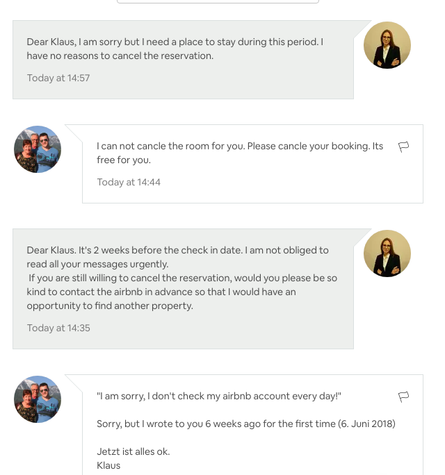 Host wants me to cancel my trip - Airbnb Community