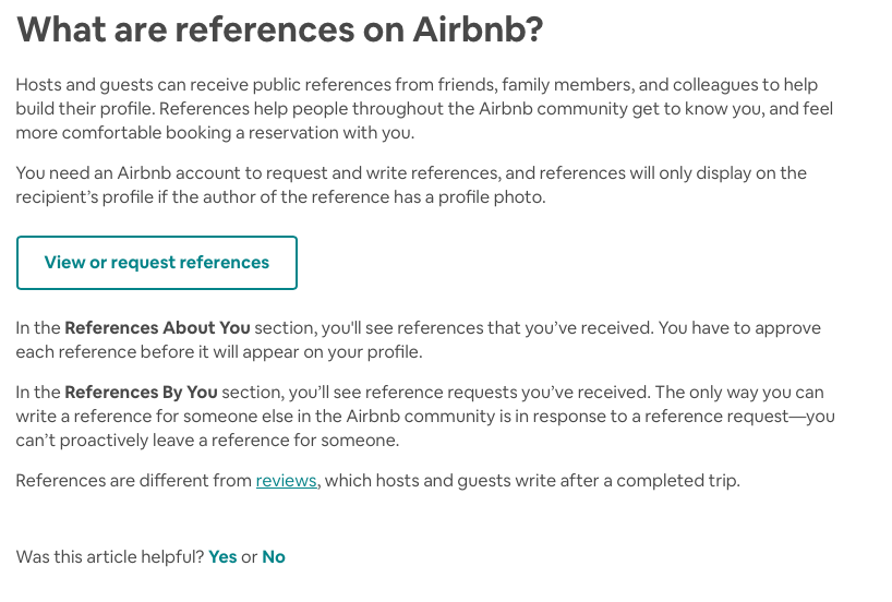 Solved: References    - Airbnb Community
