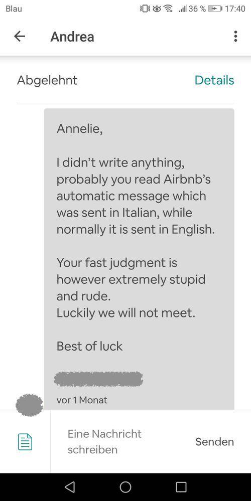 Die erste gefühlt unfaire Bewertung - Ein Erfahrun... - Airbnb Community