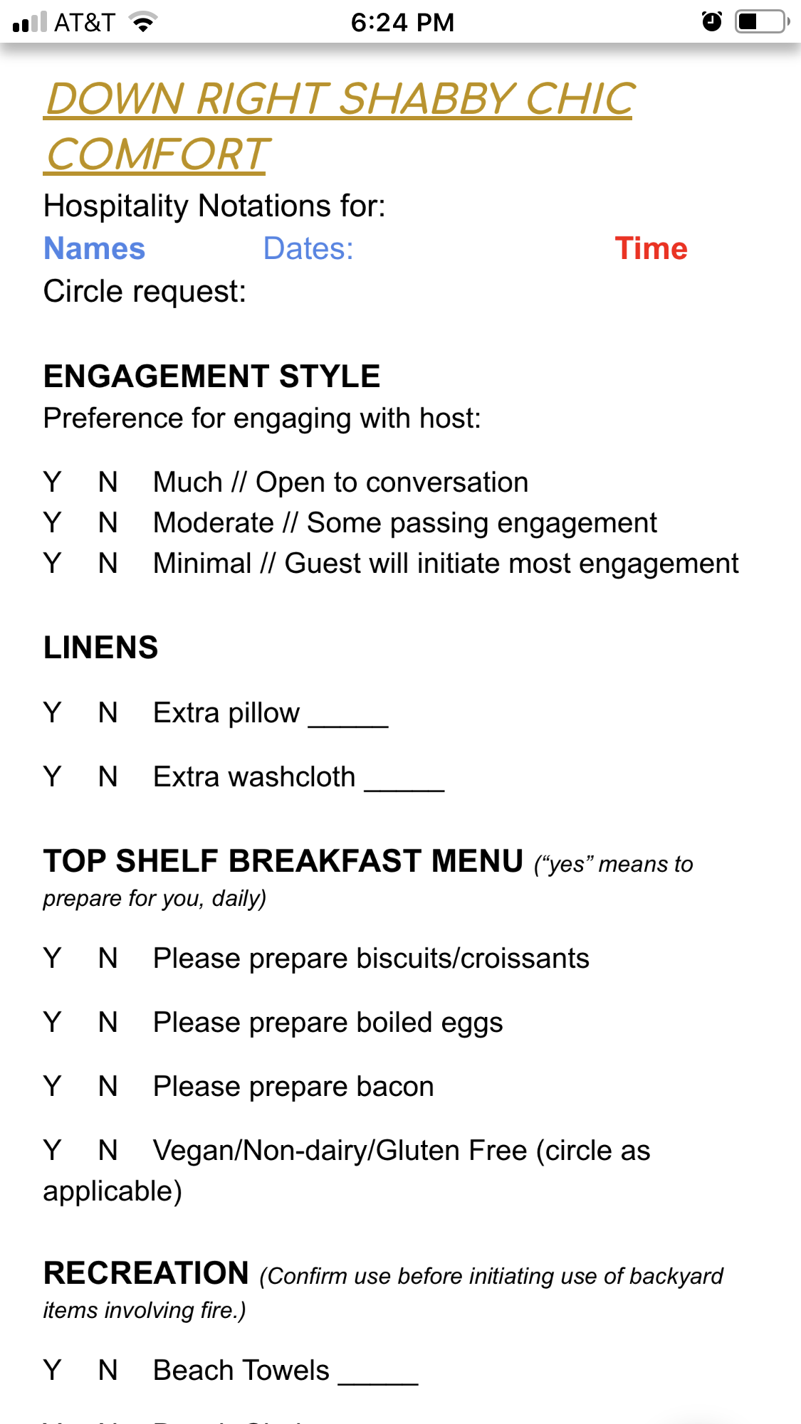 What's on your pre-check-in checklist? - Airbnb Community
