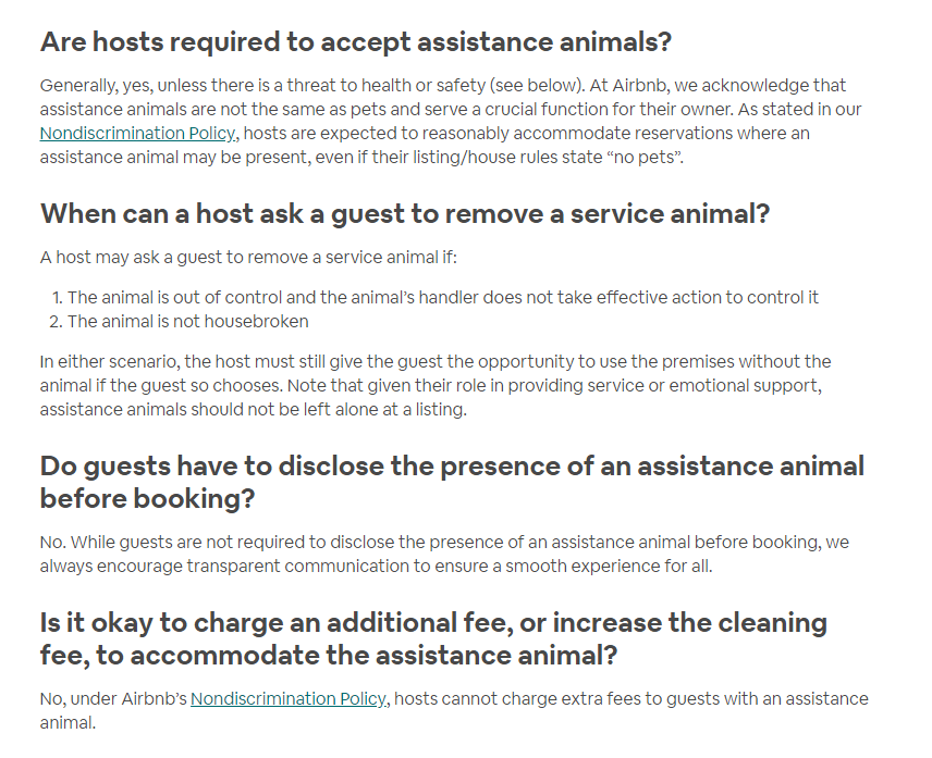 Guest with pets - Airbnb Community