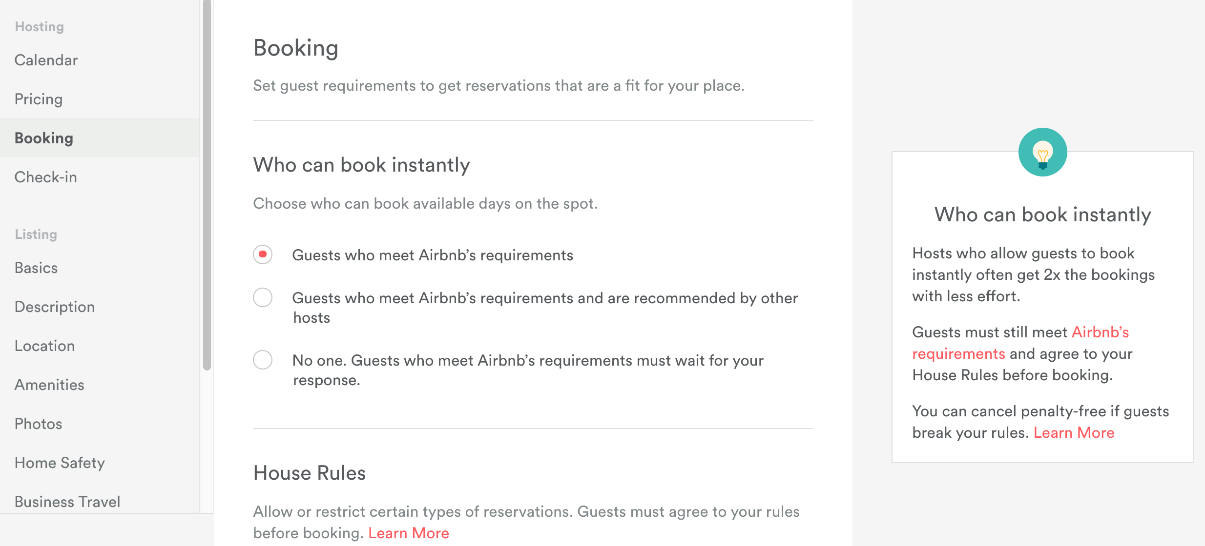 How to disable insta book? - Airbnb Community