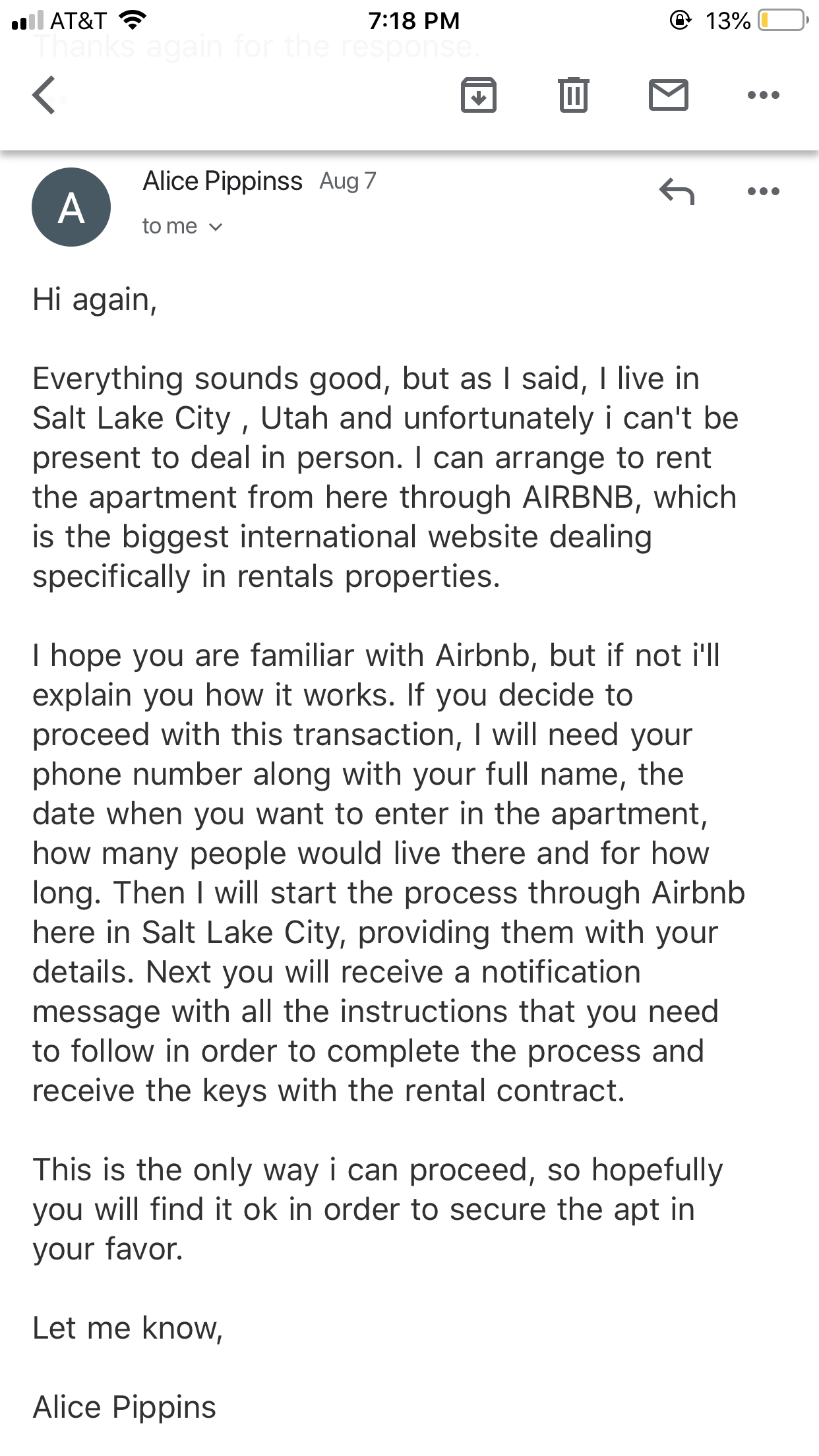 Solved: Rental Scam! Red Flags and How to Avoid  - Airbnb