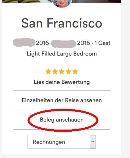 airbnb rechnung