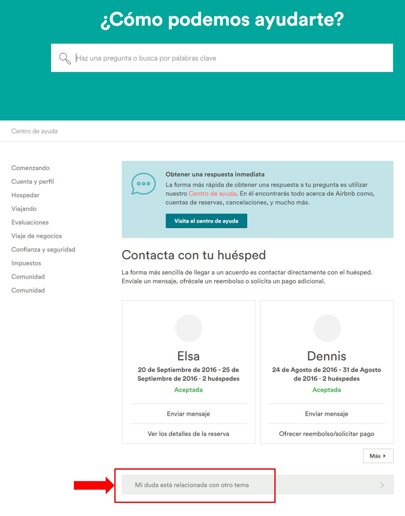 Gu a para contactar con airbnb v2 septiembre del - Como ponerse en forma en un mes ...