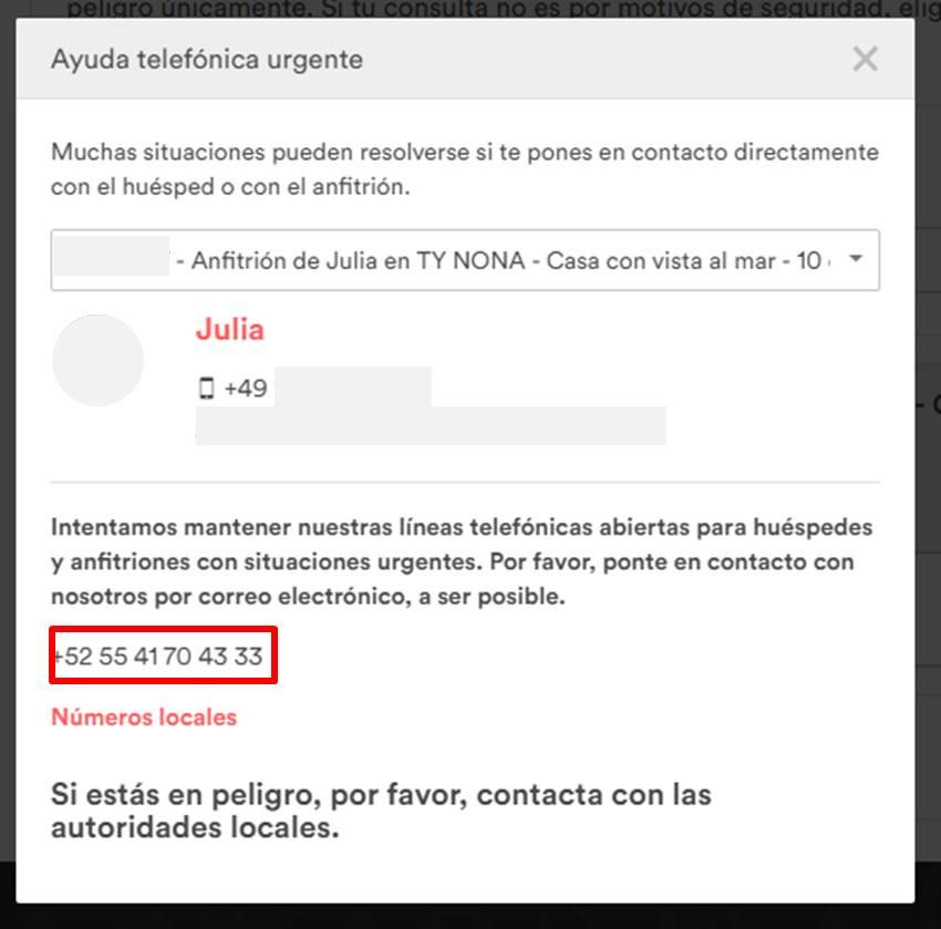 Gu a para contactar con airbnb v2 septiembre del - Telefono atencion al cliente airbnb ...
