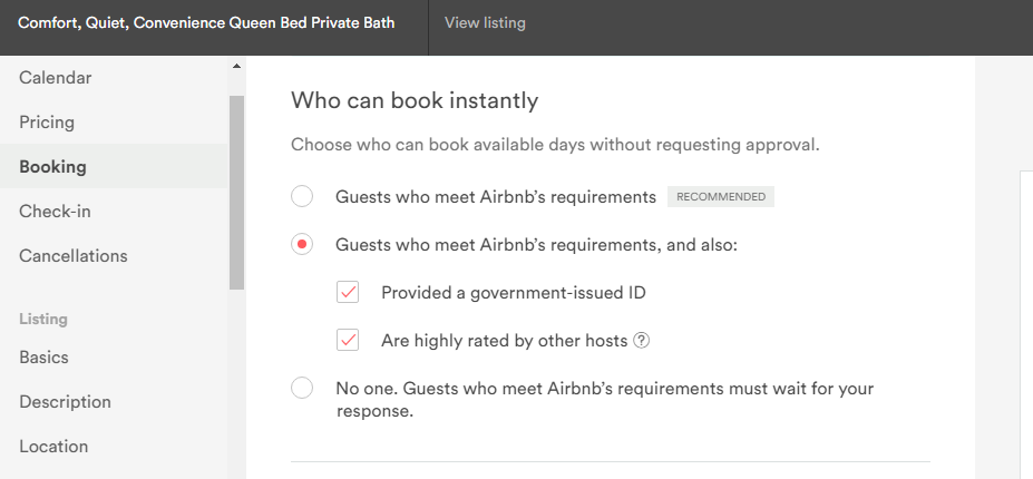 Can't have Verified ID without Instant Book enable