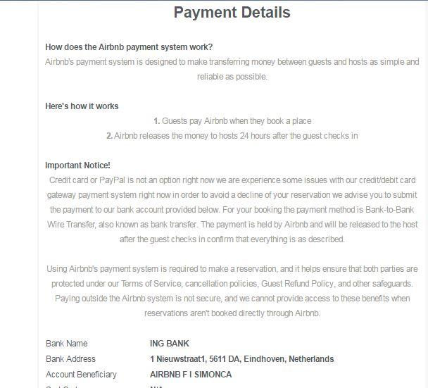Fake Wire Transfers   Fake Listing In Sydney Australia Airbnb Community