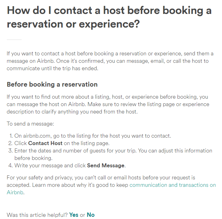 How To Message Host On Airbnb Before Booking